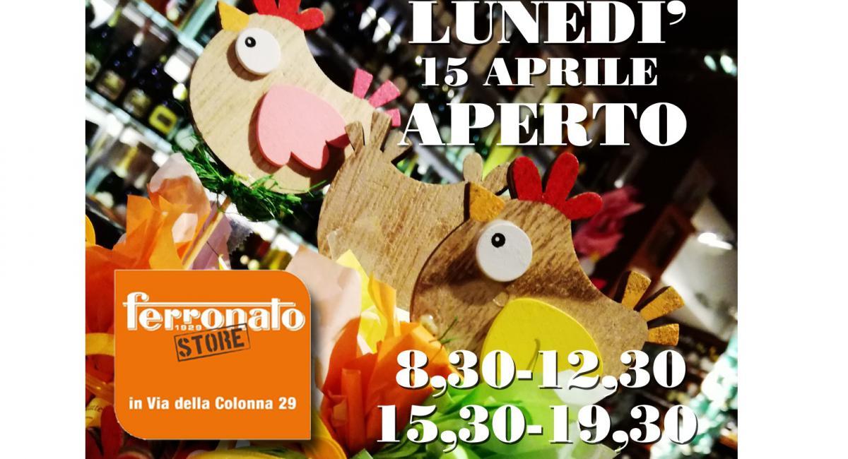 LUNEDI' 15 APRILE IL NEGOZIO DI VIA COLONNA E' APERTO!!!